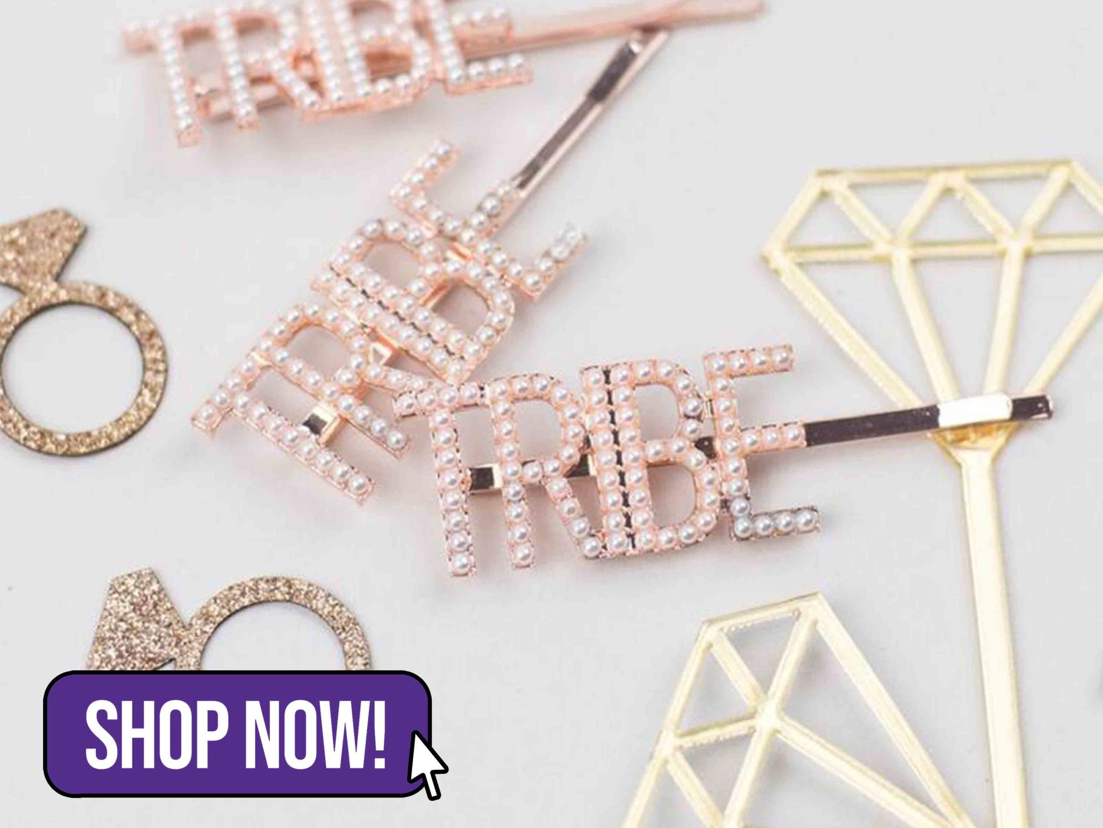 Bride Tribe Hair Clips